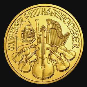 24金 純金製ウィーン金貨 1/10 オンス クリアケース入り  (ランダム・イヤー)|spacein
