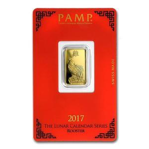 【スイス・パンプ社 干支カレンダーシリーズ】スイス パンプ ゴールドバー 5g 酉 2017年製 「金銀の貯金箱」|spacein