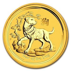 金貨 純金 コイン『干支戌金貨 1/20オンス 2018年 クリアケース入り』オーストラリアパース造幣局発行 1.55gの純金 品位:K24 (99.99%) 《安心の本物保証》|spacein