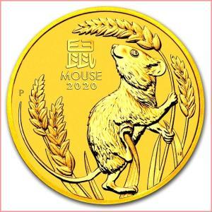 純金 コイン『干支子金貨 1/20オンス 2020年製』オーストラリアパース造幣局発行 品位:K24 (99.99%) 24金 子年《安心の本物保証》保証書付き|spacein