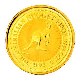 純金 コイン『 カンガルー金貨 1/10オンス 1995年 クリアケース入り』オーストラリアパース造幣局発行 品位:K24 (99.99%) 24金《安心の本物保証》保証書付き|spacein