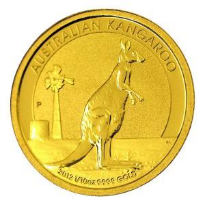 純金 コイン『 カンガルー金貨 1/10オンス 2012年 クリアケース入り』オーストラリアパース造幣局発行 品位:K24 (99.99%) 24金《安心の本物保証》保証書付き|spacein