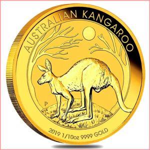 純金 コイン『 カンガルー金貨 1/10オンス 2019年 クリアケース入り』オーストラリアパース造幣局発行 品位:K24 (99.99%) 24金《安心の本物保証》保証書付き|spacein