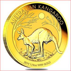 純金 コイン『 カンガルー金貨 1/4オンス 2019年 クリアケース入り』オーストラリアパース造幣局 7.77g 品位:K24 (99.99%) 24金《安心の本物保証》保証書付き|spacein