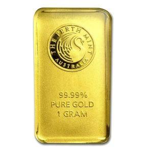 純金 インゴット『パースミントゴールドバー 1g』オーストラリアパース造幣局発行 1gの純金 品位:K24 (99.99%) 24金 カンガルー《安心の本物保証》保証書付き|spacein