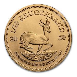 クルーガーランド金貨 1/10オンス クリアケース入り 2020年製「金銀の貯金箱」|spacein