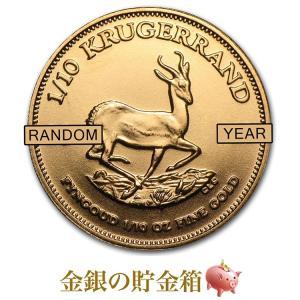 クルーガーランド金貨 1/10オンス クリアケース入り ランダム・イヤー「金銀の貯金箱」|spacein