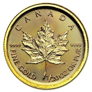 メイプル金貨 1/20オンス 2017年製 カナダ王室造幣局発行 1.55gの純金 24金 K24 メイプルリーフ 金貨 ゴールド コイン 地金型 純金 Gold 保証書付き|spacein