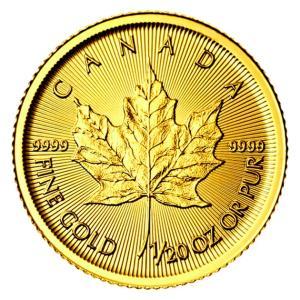 メイプル金貨 1/20オンス カナダ王室造幣局発行 1.55gの純金 24金 K24 メイプルリーフ 金貨 ゴールド コイン 地金型 純金 Gold 保証書付き|spacein