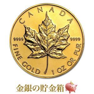 メイプル金貨 1オンス クリアケース入り (ランダム・イヤー)  31.1gの純金 24金 ゴールド コイン|spacein