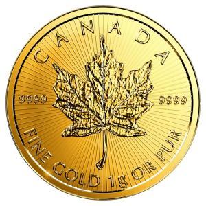 純金 24金 ゴールド コイン  メイプル金貨 1g  2017年製|spacein