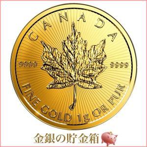 金貨 コイン『メイプル金貨 1g 2019年製』カナダ王室造幣局発行 1gの純金 品位:K24 (99.99%) 純金 24金 ゴールド《安心の本物保証》【保証書付き・巾着袋入り】|spacein