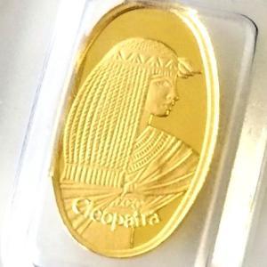 金貨 コイン『クレオパトラ金貨 1g ブリスターパック入り』スイス・パンプ社発行 1gの純金 24金 品位:K24 (99.99%)《安心の本物保証》保証書付き spacein