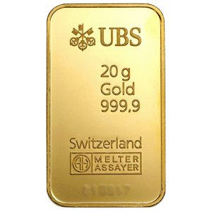 純金 インゴット 延べ棒 24金 UBS ゴールドバー 20g 金銀の貯金箱保証付【送料無料】|spacein