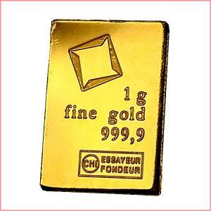 純金 インゴット『スイス ヴァルカンビ ゴールドバー 1g』スイス・ヴァルカンビ社発行 品位:K24 (99.99%) 24金 延べ棒《安心の本物保証》保証書付き|spacein