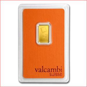 純金 インゴット『スイス ヴァルカンビ ゴールドバー 2.5g』スイス・ヴァルカンビ社発行 5gの純金 24金 品位:K24 (99.99%)《安心の本物保証》保証書付き|spacein