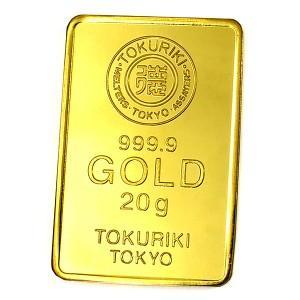 純金 インゴット『TOKURIKI (徳力) ゴールドバー 20g』品位:K24 (99.99%) ...
