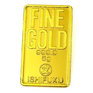 ISHIFUKU ゴールドバー 5g 「金銀の貯金箱」保証書付き|spacein