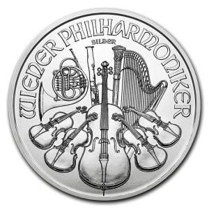 銀貨 コイン『ウィーン銀貨 1オンス 2018年製 クリアケース入り』オーストリア造幣局発行 31.1gの純銀 品位:99.9% 純銀貨《安心の本物保証》保証書付き|spacein