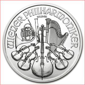 銀貨 コイン『ウィーン銀貨 1オンス 2019年製 クリアケース入り』オーストリア造幣局発行 31.1gの純銀 品位:99.9% 純銀貨《安心の本物保証》保証書付き|spacein