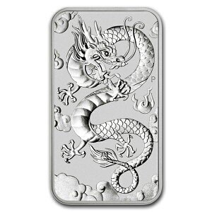 インゴット 純銀『ドラゴン シルバーバー 1オンス 2019年製』オーストラリアパース造幣局発行 31.1gの純銀 品位:99.99%《安心の本物保証》保証書付き|spacein