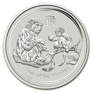 干支銀貨 猿(申) 1/2オンス  2016年  クリアケース入り オーストラリアパース造幣局発行 spacein