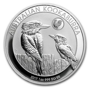 かわせみ銀貨 1オンス ルースターマーク入り (2017)  オーストラリアパース造幣局発行|spacein