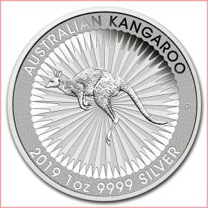 銀貨 コイン『カンガルー銀貨 1オンス 2019年製 クリアケース入り』オーストラリアパース造幣局発行 31.1gの純銀 品位:99.99%《安心の本物保証》保証書付き|spacein