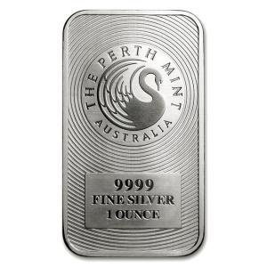 純銀 インゴット『パースミント シルバーバー 1オンス』オーストラリアパース造幣局発行 31.1gの純銀 品位:99.99% シルバー《安心の本物保証》保証書付き|spacein