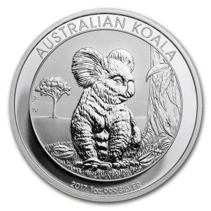 純銀 銀貨 『コアラ 銀貨 1オンス 2017年 クリアケース入り』オーストラリアパース造幣局 31.1gの純銀 品位:99.9% 《安心の本物保証》 保証書付き|spacein