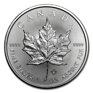 メイプル銀貨 1オンス 2018年製 クリアケース入り  カナダ王室造幣局発行 保証書付き