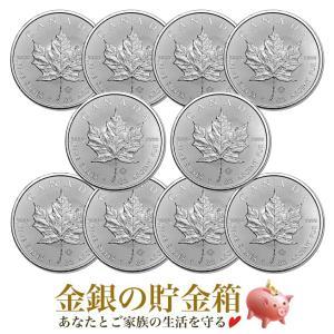 メイプルリーフ銀貨 1オンス クリアケース入り 10個セット 保証書付き|spacein
