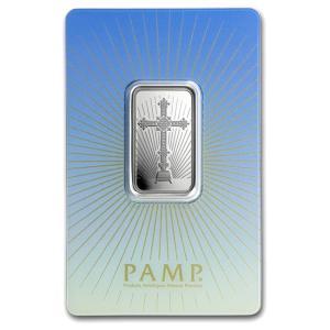 スイスパンプ シルバーバー 10g 十字架 (ロマネスク・クロス) スイス・パンプ社発行|spacein