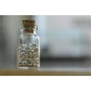 ★プチプラギフト★【銀の涙】ガラスの小瓶  純銀20g|spacein