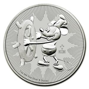 ミッキーマウス銀貨 2017年製 クリアケース入り|spacein