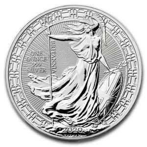 銀貨 コイン『ブリタニア銀貨 1オンス オリエンタル ボーダー 2020年クリアケース入り』イギリス王立造幣局発行 31.1gの純銀 品位:99.9%《安心の本物保証》|spacein