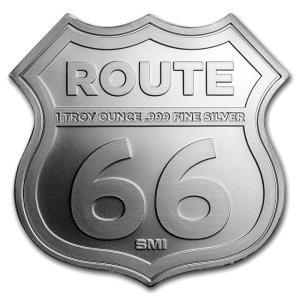 純銀 インゴット『ルート66シルバーバー 1オンス シールド (ミズーリ州) 専用ケース入り』サンシャイン ミント発行 シルバー《安心の本物保証》 spacein