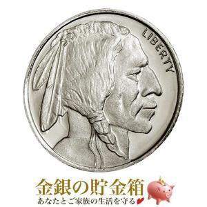 純銀 コイン『バッファロー・インディアン銀貨 1/10オンス クリアケース入り』原産国:アメリカ 3.11gの純銀 シルバー 品位:99.9%《安心の本物保証》保証書付き|spacein