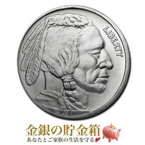 銀貨 コイン『バッファロー インディアン銀貨 1オンス クリアケース入り』原産国アメリカ 31.1gの純銀 99.9% 純銀 シルバー《安心の本物保証》保証書付き|spacein