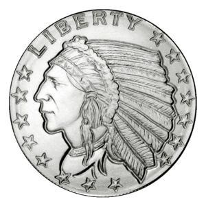 銀貨 コイン『インディアン銀貨 1/4オンス クリアケース入り』ゴールデン ステイト ミント発行 7.77gの純銀 シルバー 品位:99.9%《安心の本物保証》保証書付き|spacein