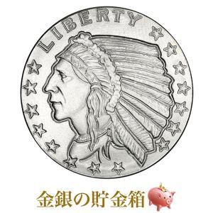 銀貨 コイン『インディアン銀貨 1/2オンス クリアケース入り』ゴールデン ステイト ミント発行 15.5gの純銀 品位:99.9% Silver《安心の本物保証》保証書付き|spacein