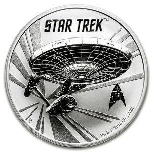 スタートレック 宇宙船銀貨 1オンス クリアケース入り 純銀 高純度 シルバーコイン 保証書付き|spacein