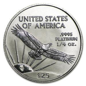1997年製 イーグル プラチナコイン 1/4 オンス oz 白金 プラチナ コイン アメリカ造幣局発行 保証書付き|spacein