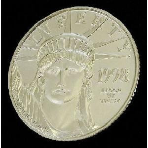 1998年製 イーグル プラチナコイン 1/4 オンス oz 白金 プラチナ コイン アメリカ造幣局発行 保証書付き|spacein