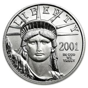 2001年製 イーグル プラチナコイン 1/4 オンス oz 白金 プラチナ コイン 金銀の貯金箱の保証書付き|spacein