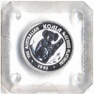 プラチナ コイン『コアラ プラチナコイン 1/10オンス 1993年製 クリアケース入り』オーストラリアパース造幣局発行 3.11gの純プラチナ《安心の本物保証》|spacein