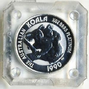 プラチナ コアラコイン 1/4 オンス 1990年|spacein