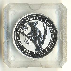 プラチナ コアラコイン 1/2オンス 1995年製|spacein