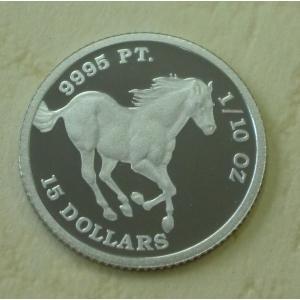 ツバル ツバルホース 馬 プラチナ コイン 白金 プラチナ コイン 白金 1/10 オンス ツバル政府 2012年製 osp|spacein