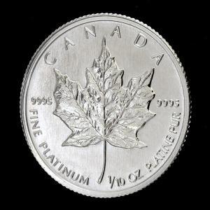 メイプルプラチナコイン 1/10オンス 1988年製  カナダ王室造幣局発行|spacein